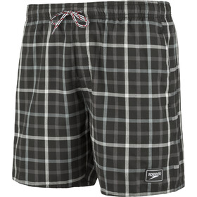 "speedo Check Leisure 16"" Uimashortsit Miehet, black/grey"